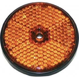 Catadioptre rond orange diamètre 60mm UNIVERSEL 484066