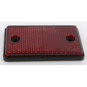 Catadioptre rectangle rouge 75x16mm UNIVERSEL LAMP852SSB