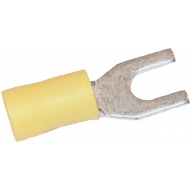 Cosse de câble à fourche jaune UNIVERSEL LA9210KR