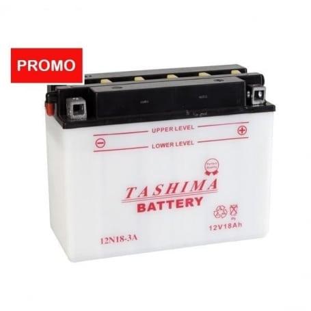 Batterie 12N18-3A TASHIMA LIVRÉE AVEC ACIDE