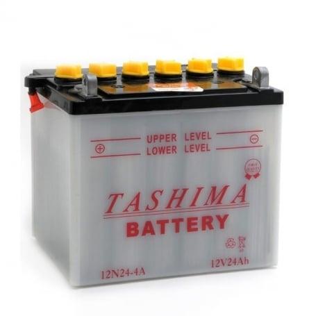 Batterie 12N24-4A + à gauche