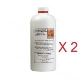 Acide batterie pack 2 x 1 Litre electrolyte
