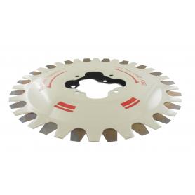 Jeu de deux lames pour système de coupe à lames contre-rotatives