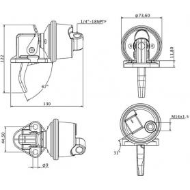Pompe à carburant UNIVERSEL J928143KR