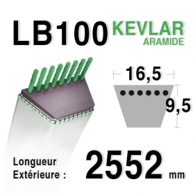 Courroie lb100 - 16,5 mm x 2552 mm