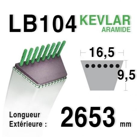 Courroie lb104 - 16,5 mm x 2653 mm