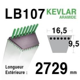 Courroie lb107 - 16,5 mm x 2729 mm