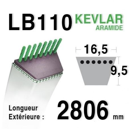 Courroie lb110 - 16,5 mm x 2806 mm