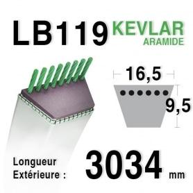 Courroie lb119 - 16,5 mm x 3034 mm