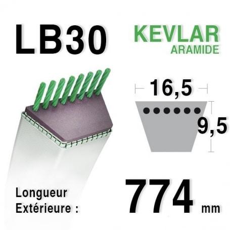 Courroie lb30 - 16,5 mm x 774 mm