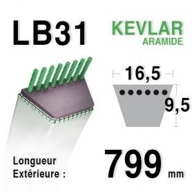 Courroie lb31 - 16,5 mm x 799 mm