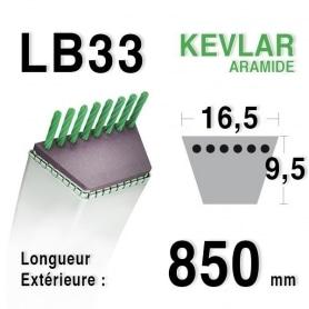 Courroie lb33 - 16,5 mm x 850 mm
