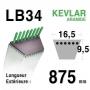 Courroie lb34 - 16,5 mm x 875 mm