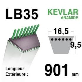 Courroie lb35 - 16,5 mm x 901 mm