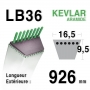 Courroie lb36 - 16,5 mm x 926 mm