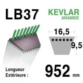 Courroie lb37 - 16,5 mm x 952 mm