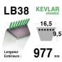 Courroie lb38 - 16,5 mm x 977 mm