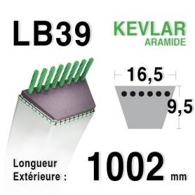 Courroie lb39 - 16,5 mm x 1002 mm