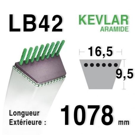 Courroie lb42 - 16,5 mm x 1078 mm