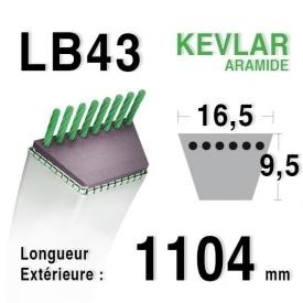 Courroie lb43 - 16,5 mm x 1104 mm