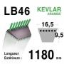 Courroie lb46 - 16,5 mm x 1180 mm