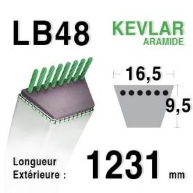Courroie lb48 - 16,5 mm x 1231 mm