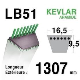 Courroie lb51 - 16,5 mm x 1307 mm