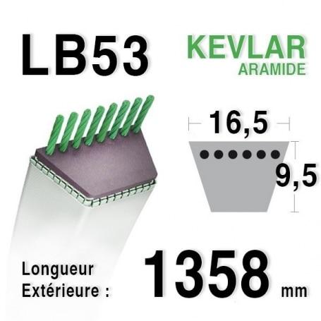 Courroie lb53 - 16,5 mm x 1358 mm