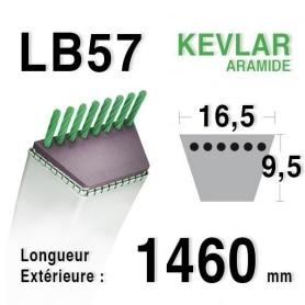 Courroie lb57 - 16,5 mm x 1460 mm