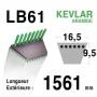 Courroie lb61 - 16,5 mm x 1561 mm