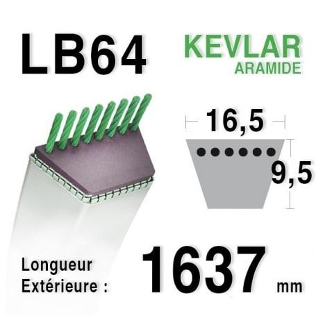Courroie lb64 - 16,5 mm x 1637 mm