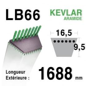 Courroie lb66 - 16,5 mm x 1688 mm