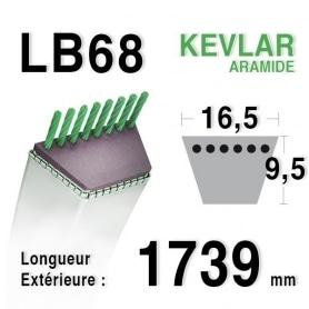 Courroie lb68 - 16,5 mm x 1739 mm