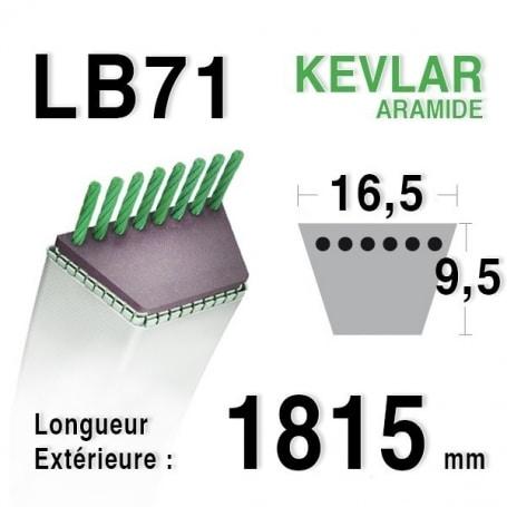 Courroie lb71 - 16,5 mm x 1815 mm