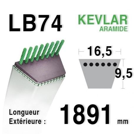 Courroie lb74 - 16,5 mm x 1891 mm