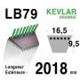 Courroie lb79 - 16,5 mm x 2018 mm