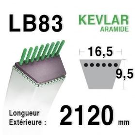 Courroie lb83 - 16,5 mm x 2120 mm
