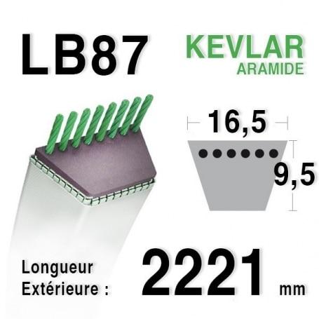 Courroie lb87 - 16,5 mm x 2221 mm