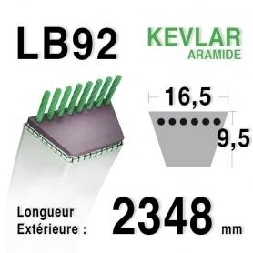 Courroie lb92 - 16,5 mm x 2348 mm