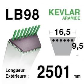 Courroie lb98 - 16,5 mm x 2501 mm