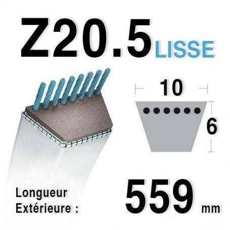 Courroie Z20,5 - 10 mm x 559 mm