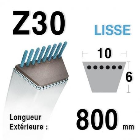 Courroie Z30 - 10 mm x 800 mm