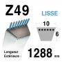 Courroie Z49 - trapézoidale 10 mm x 1288 mm