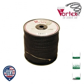 Bobine fil nylon hélicoïdal copolymère VORTEX - 2,40 mm x 208m - qualité professionnelle - fabrication américaine