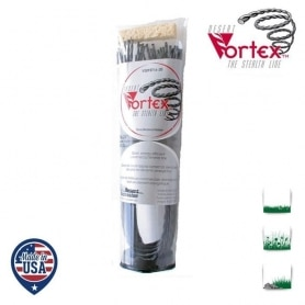 Tube 36 fils nylon hélicoïdal copolymère VORTEX - 3,30 mm x 45 cm - qualité professionnelle - fabrication américaine