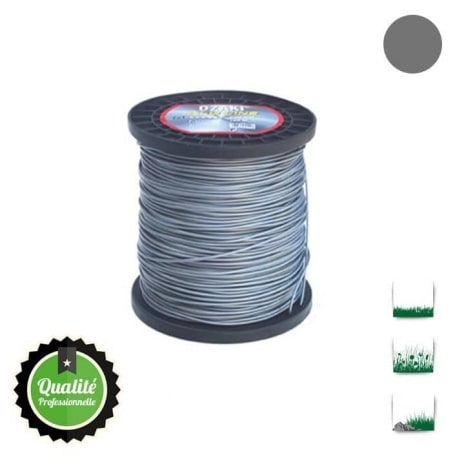 Bobine fil nylon bi-composant OZAKI alu line - 4 mm x 159m - qualité professionnelle
