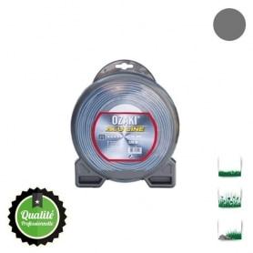 Coque fil nylon bi-composant OZAKI alu line - 3 mm x 15m - qualité professionnelle