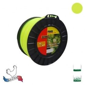 Bobine fil nylon rond OZAKI premium - 3 mm x 169m - qualité professionnelle - fabrication française