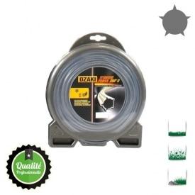 Coque fil nylon pentagonal bi-composant OZAKI titanium power - 3,50 mm x 45m - qualité professionnelle