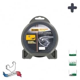 Coque fil nylon hélicoïdal OZAKI twisted power silent line - 2,00 mm x 15m - qualité professionnelle - fabrication française
